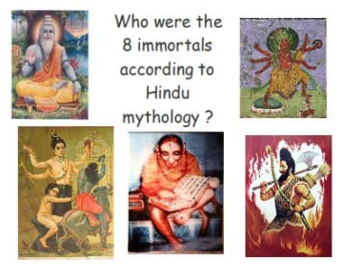 who were the eight immortals according to hindu mythology ?