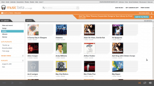 Google Music Beta Screenshot