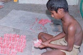 Forced child labour in cracker factories