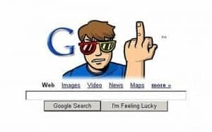 google shows finger