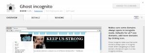 Make Chrome go Incognito for specific sites