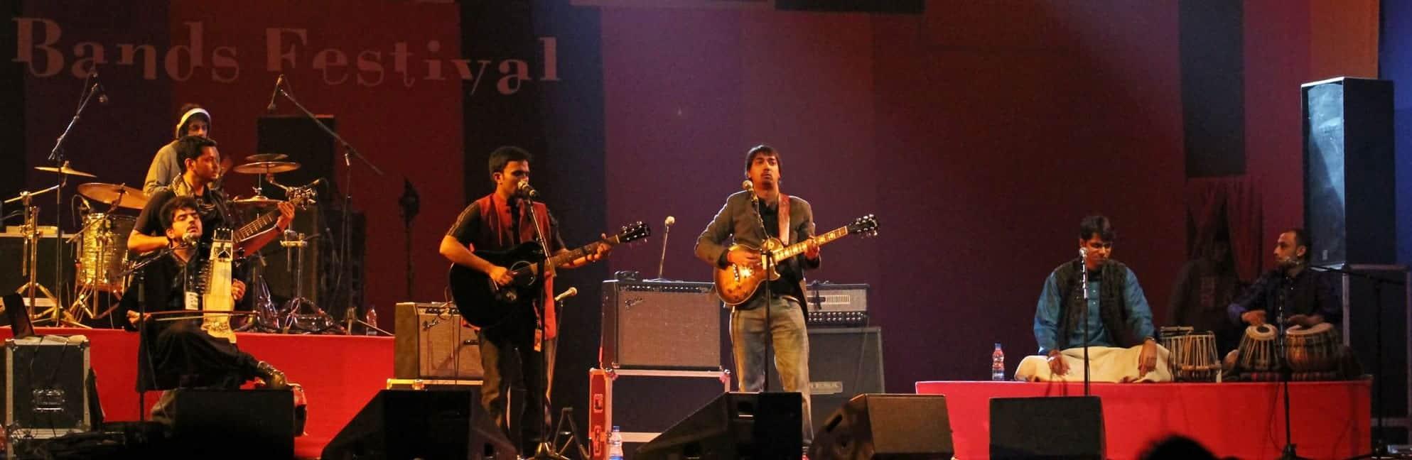 Advaita (New Delhi) during their performance 1 Photo Credit- Ajay Lal