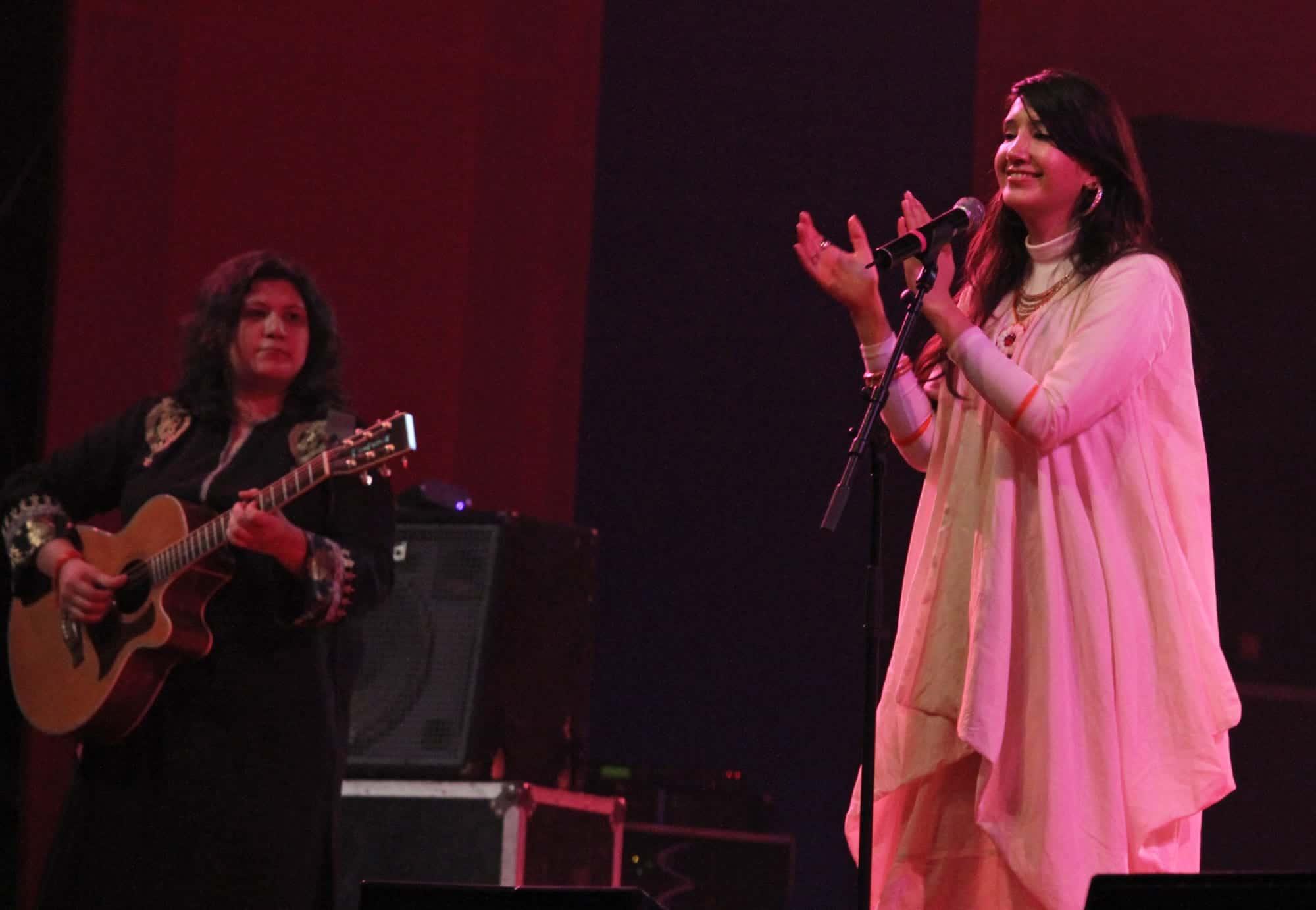 Zeb and Haniya during their performance at South Asian Film Festival, delhi