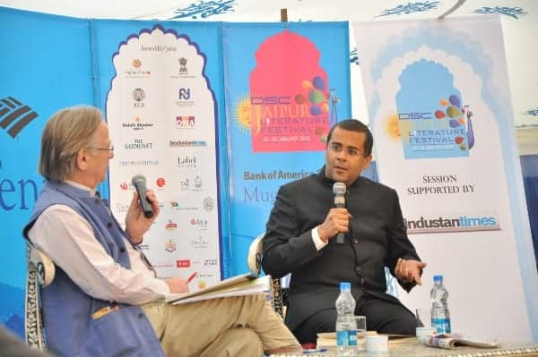 Chetan bhagat was in conversation with john Elliott at jaipur literature festival