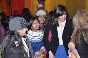 Pola Oloixarac with people at the DSC Jaipur Literature Festival