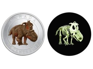 Glow in dark dino coin