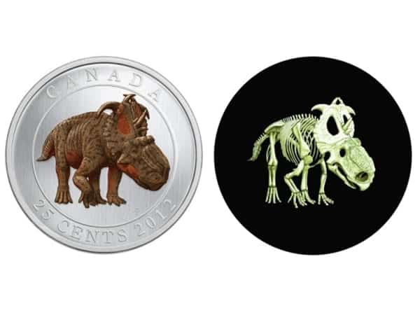 Glow in dark dino coin