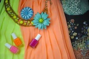 A neon dress
