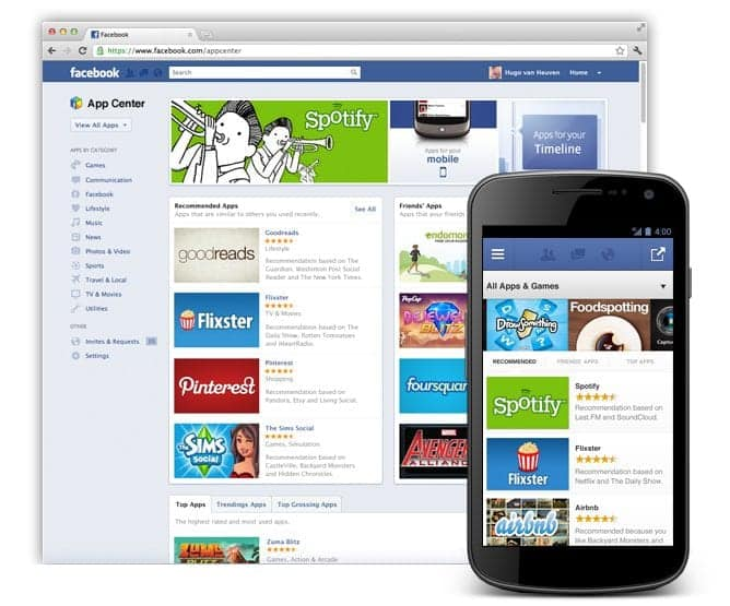 Facebook App Center to arrive soon....