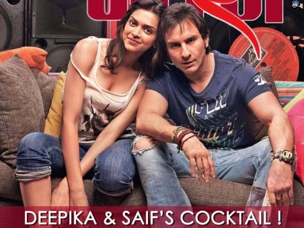 Deepika and Saif in cocktail