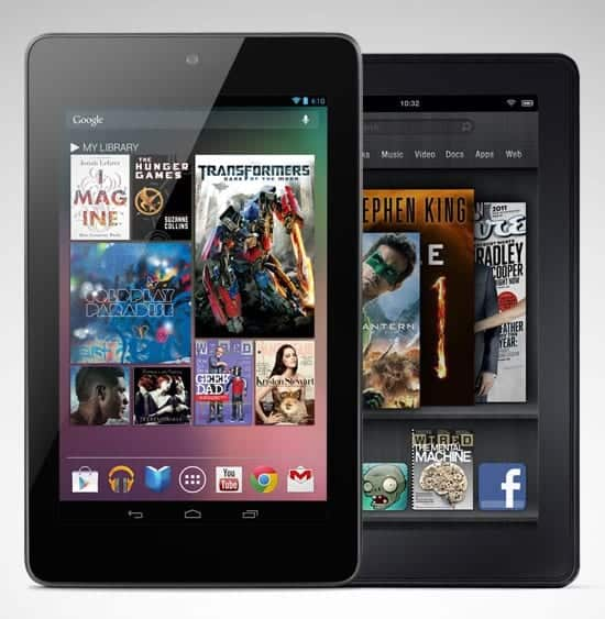 Google Nexus 7 Vs Kindle Fire