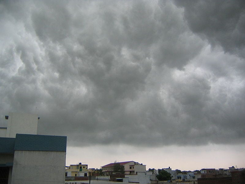 Monsoon Clouds Over Lucknow