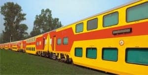 Indian Double Decker Train