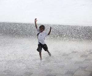 Kid Dancing Under Rain In Mumbai