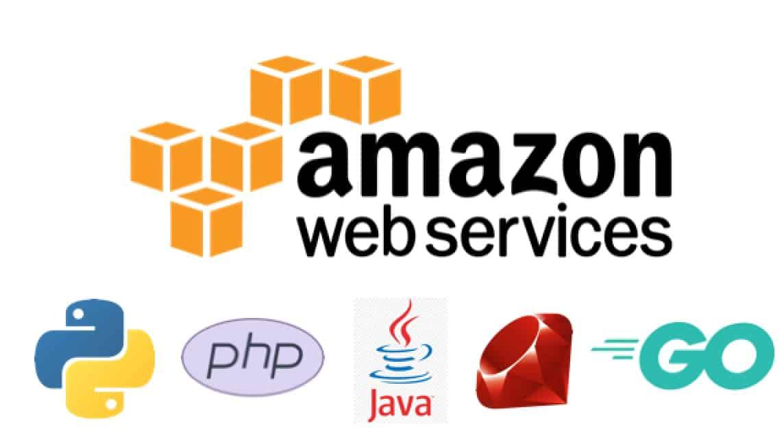 AWS SDK Go JAVA python php logo